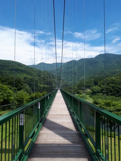 さわやかです!もみじ谷大吊橋(塩原温泉)