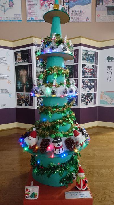 遊学センター館内にツリーを飾っています『超ミニツリープレゼント実施中』
